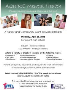 Acquire Mental Health 2018 Flyer