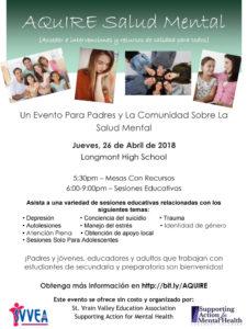 Aquire Salud Mental 2018 Evento