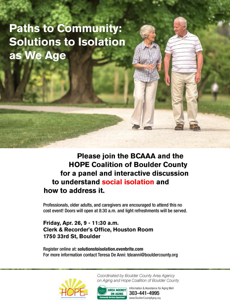 Paths to Community: Solutions to Isolation as We Age