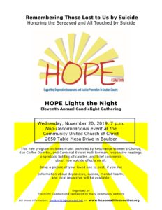 2019 Hope Lights The Night Flyer