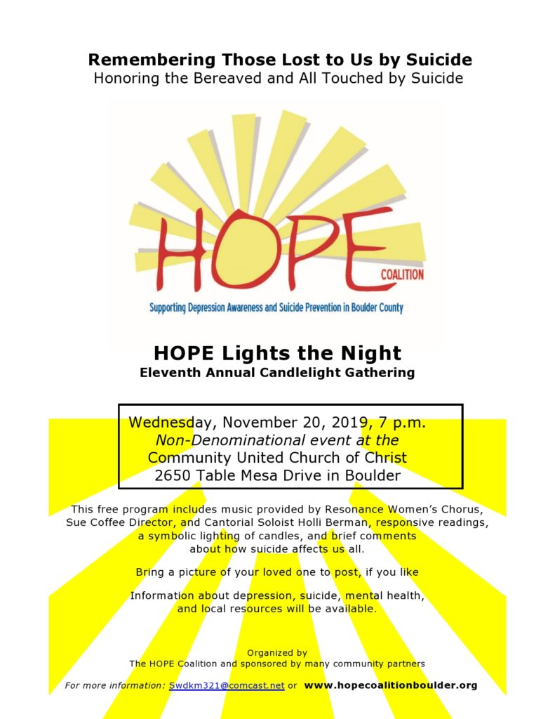2019 Hope Lights The Night Flyer